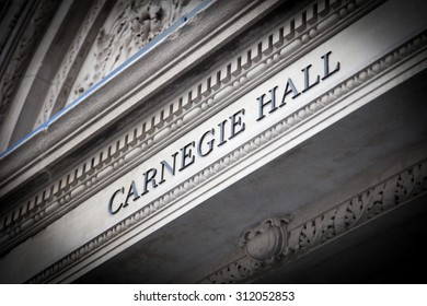 NEW YORK CITY, USA - SEPTEMBER, 2014: Carnegie Hall New York City