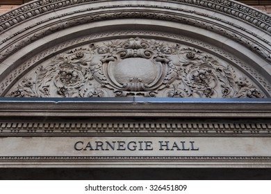 NEW YORK CITY, USA - SEPTEMBER, 2014: Carnegie Hall in New York City