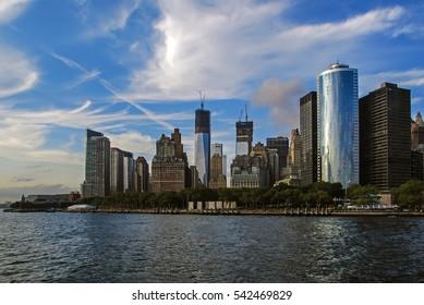 New York City, USA city skyline of Lower Manhattan