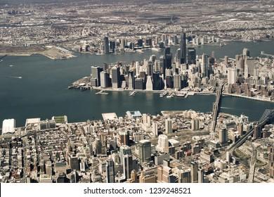 New York City, USA, top view