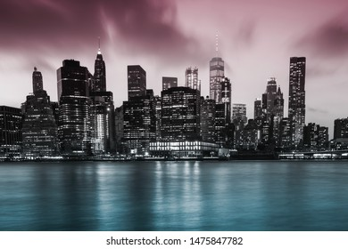 New York City view from Brooklyn
