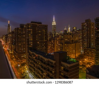 New York City view by night.