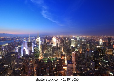 New York city view at evening