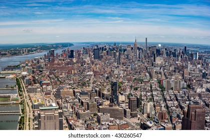 NEW YORK city view from highest in the city freedom tower