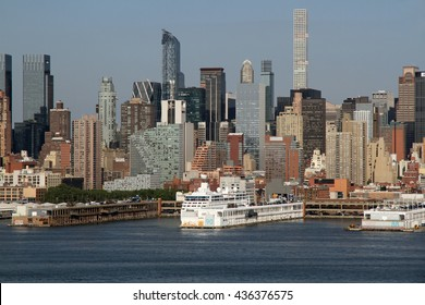 New York City viewed from a ferry in New Jersey