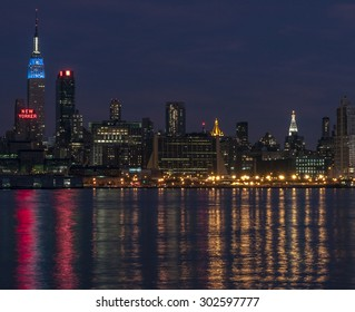 NEW YORK CITYSCAPE - July 30, 2015: Cityscape view of NYC, New York City, USA.