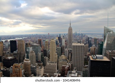 New York cityscape and skyline with buildings and skyscrapers.