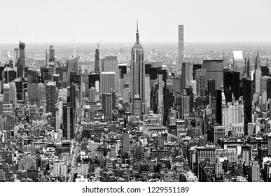 New York cityscape. Top view on New York City.