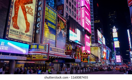 New York City/United States - 06.14.2018: Time square New York at Night