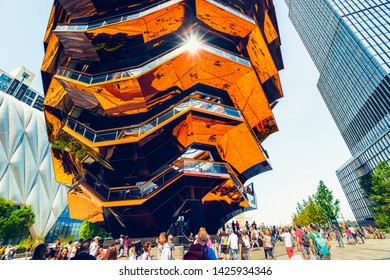 New York City/USA - May 27, 2019 Vessel(TKA), New Landmark, the Centerpiece of Hudson's Yards Development, New York City