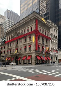 New York City/USA - November 9, 2019: The Cartier Mansion, on the corner of 52nd Street and Fifth Avenue in New York City, USA.