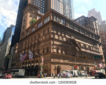 New York City/USA - October 8, 2018: Carnegie Hall, Manhattan, New York City, USA.