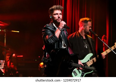 NEW YORK - DEC 13: Chris Lane performs in concert at Irving Plaza on December 13, 2018 in New York City