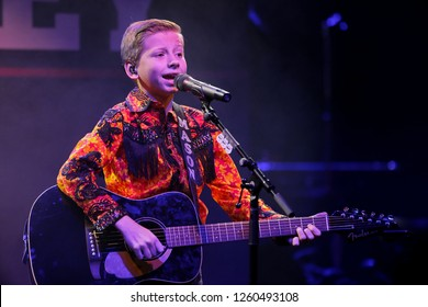 NEW YORK - DEC 13: Mason Ramsey performs in concert at Irving Plaza on December 13, 2018 in New York City