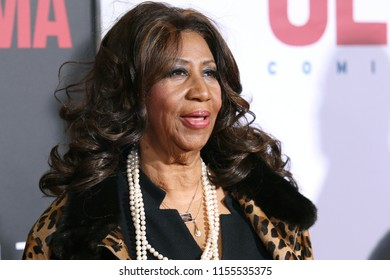 """NEW YORK - DEC 14, 2014: Aretha Franklin attends the premiere of """"Selma"""" at the Ziegfeld Theatre on December 14, 2014 in New York City."""