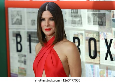 "NEW YORK - DEC 17, 2018:  Sandra Bullock attends a screening of ""Bird Box"" at Alice Tully Hall on December 17, 2018, in New York City."