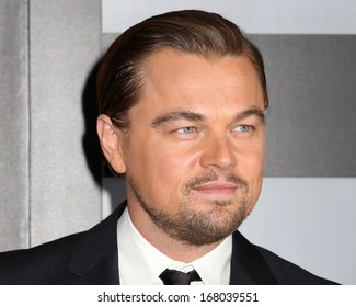"""NEW YORK - DEC 17: Leonardo DiCaprio attends the premiere of """"The Wolf Of Wall Street"""" at the Ziegfeld Theater on December 17, 2013 in New York City."""