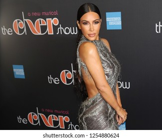 "NEW YORK - DEC 3, 2018: Kim Kardashian West attends the Broadway opening night of ""The Cher Show"" on December 3, 2018, in New York City."