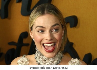 "NEW YORK - DEC 4, 2018:  Margot Robbie attends the premiere ""Mary Queen of Scots"" at the Paris Theater on December 4, 2018, in New York City."