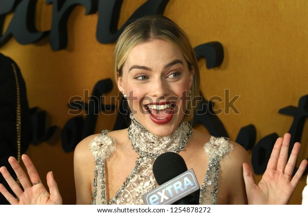 """NEW YORK - DEC 4, 2018:  Margot Robbie attends the premiere """"Mary Queen of Scots"""" at the Paris Theater on December 4, 2018, in New York City."""