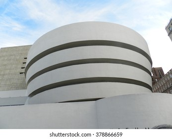 NEW YORK - DEC 4: The Solomon R. Guggenheim Museum of modern and contemporary art. Designed by Frank Lloyd Wright museum opened on October 21,1959. On Dec 4, 2013 in New York City, USA