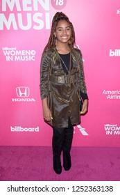 NEW YORK - DEC 6: Chloe Davis attends Billboard's 13th Annual Women in Music event on December 6, 2018 at Pier 36 in New York City.