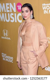 NEW YORK - DEC 6: Dua Lipa attends Billboard's 13th Annual Women in Music event on December 6, 2018 at Pier 36 in New York City.