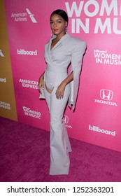 NEW YORK - DEC 6: Janelle Monae attends Billboard's 13th Annual Women in Music event on December 6, 2018 at Pier 36 in New York City.