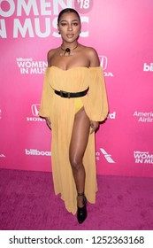 NEW YORK - DEC 6: Victoria Monet attends Billboard's 13th Annual Women in Music event on December 6, 2018 at Pier 36 in New York City.
