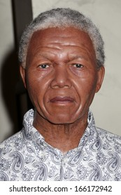 NEW YORK - Dec 6: A wax figure of Nelson Mandela is seen on display at Madame Tussauds on December 6, 2013 in New York City.