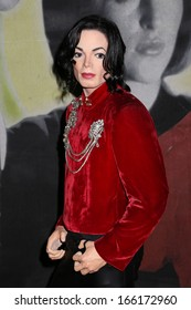 NEW YORK - Dec 6: A wax figure of Michael Jackson is seen on display at Madame Tussauds on December 6, 2013 in New York City.
