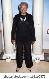 NEW YORK - Dec 6: A wax figure of Maya Angelou is seen on display at Madame Tussauds on December 6, 2013 in New York City.