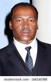 NEW YORK - Dec 6: A wax figure of Martin Luther King Jr. is seen on display at Madame Tussauds on December 6, 2013 in New York City.