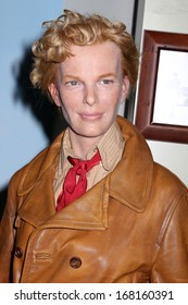 NEW YORK - Dec 6: A wax figure of Amelia Earhart is seen on display at Madame Tussauds on December 6, 2013 in New York City.