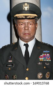 NEW YORK - Dec 6: A wax figure of Colin Luther Powell is seen on display at Madame Tussauds on December 6, 2013 in New York City.