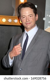 NEW YORK - Dec 6: A wax figure of Matthew Broderick is seen on display at Madame Tussauds on December 6, 2013 in New York City.