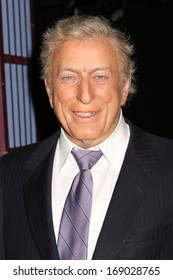 NEW YORK - Dec 6: A wax figure of Tony Bennett is seen on display at Madame Tussauds on December 6, 2013 in New York City.