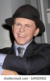NEW YORK - Dec 6: A wax figure of Frank Sinatra is seen on display at Madame Tussauds on December 6, 2013 in New York City.