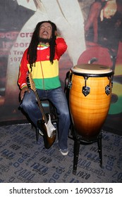 NEW YORK - Dec 6: A wax figure of Bob Marley is seen on display at Madame Tussauds on December 6, 2013 in New York City.