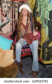 NEW YORK - Dec 6: A wax figure of Janis Joplin is seen on display at Madame Tussauds on December 6, 2013 in New York City.