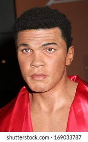 NEW YORK - Dec 6: A wax figure of Muhammad Ali is seen on display at Madame Tussauds on December 6, 2013 in New York City.