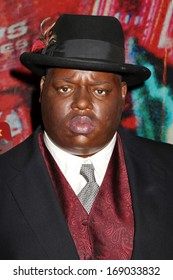 NEW YORK - Dec 6: A wax figure of The Notorious B.I.G. is seen on display at Madame Tussauds on December 6, 2013 in New York City.