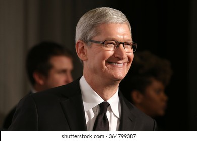 NEW YORK - DEC 8, 2015: Apple CEO, Tim Cook, attends the 2015 Ripple Of Hope Awards at the Hilton Hotel on December 8, 2015, in New York.