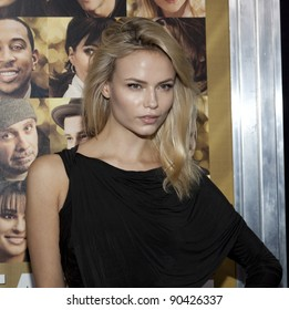 NEW YORK - DECEMBER 07: Model Natasha Poly attends 'New Year's Eve' premiere at Ziegfeld Theatre during Tribeca Film Institute Annual Benefit Gala on December 7, 2011 in New York City, NY