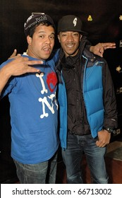 NEW YORK - DECEMBER 1 - Celebrity photographer Johnny Nunez[L] and Datwon Thomas [R] arrives at the New Era launch party for Johnny Nunez Limited Edition 59FIFTY CAP at the New Era Flagship store in New York on December 1, 2010.