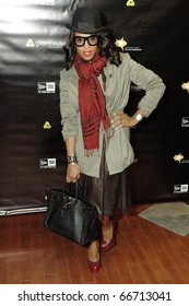 NEW YORK - DECEMBER 1 - Celebrity Stylist June Ambrose arrives at the New Era launch party for Johnny Nunez Limited Edition 59FIFTY CAP at the New Era Flagship store in New York on December 1, 2010.