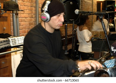 NEW YORK - DECEMBER 1 - Celebrity DJ Kid Capri on the turntables at the New Era launch party for Johnny Nunez Limited Edition 59FIFTY CAP at the New Era Flagship store in New York on December 1, 2010.