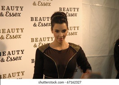 NEW YORK - DECEMBER 10: Kim Kardashian  attends the opening of  Beauty & Essex, new downtown restaurant from Rich Wolf, Peter Kane, and Chris Santos on December 10, 2010 in New York City.
