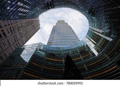 NEW YORK - DECEMBER 19, 2017: The Bloomberg Tower complex in Midtown Manhattan