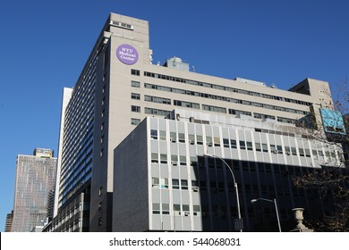 NEW YORK - DECEMBER 27, 2016:NYU Langone Medical Center in Manhattan.Based in New York City, it is one of the nation's premier academic medical centers devoted to patient care, education, and research